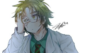 Картинка очки, доктор, парень, Ангел кровопролития, Satsuriku no Tenshi