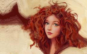 Картинка девушка, портрет, аниме, арт, фрагмент, Portrait, Mandy Jurgens