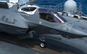 Картинка Истребитель, F-35B Lightning II, US Marine Corps, СВВП