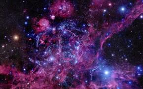 Картинка Stars, Nebula, Supernova, Pulsar, Remnant, Vela Supernova Remnant, Vela Pulsar, Constellation Vela, Vela pulsar, Vela …