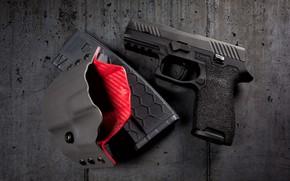 Картинка пистолет, кобура, P320