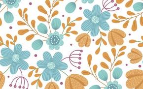 Картинка цветы, фон, узор, вектор, бесшовный, lexi_claus