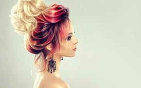Картинка стиль, волосы, макияж, прическа