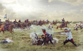 Картинка оружие, бой, битва, сражение, воины