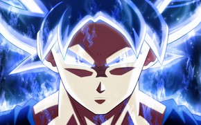 Картинка dragon ball, goku, ultra instinct perfected, dragon ball super, Goku Ultra
