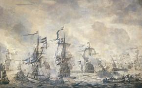 Картинка масло, картина, холст, Willem van de Velde I, Виллем ван де Велде Старший, Эпизод из …