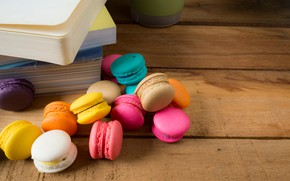 Картинка colorful, десерт, pink, пирожные, сладкое, sweet, dessert, bright, macaroon, french, macaron, макаруны