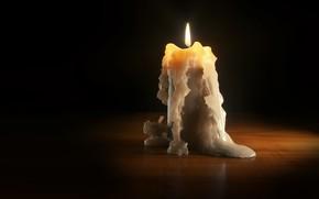 Картинка пламя, свеча, арт, воск, candle, Daniel Klepek