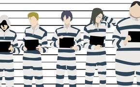 Картинка парни, Prison School, Школа тюрьма, заключённые