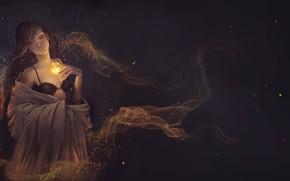 Картинка девушка, магия, фЭнтези