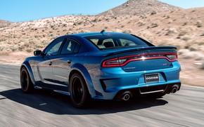 Картинка Дорога, Скорость, Dodge, Charger, Hellcat, SRT, 2020, Dodge Charger SRT, Hellcat widebody