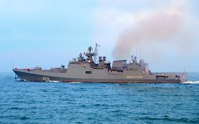 Картинка черное море, фрегат, проект 11356, адмирал григорович