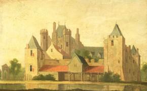 Картинка масло, картина, холст, Дом в Пюрмеренде, 1799, неизвестный художник