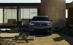 Картинка Volkswagen, у стены, SUV, 2020, Atlas Cross Sport