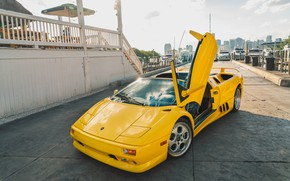 Картинка Yellow, Supercar, Lamborghini Diablo