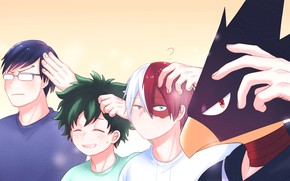 Картинка парни, My Hero Academia, Boku No Hero Academia, Моя Геройская Академия
