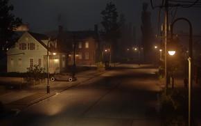 Картинка ночь, city, неон, день, вывески, ночной город, слякоть, the city of lost heaven, Mafia, Hangar …