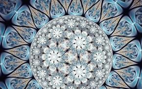 Картинка цветок, голубой, узор