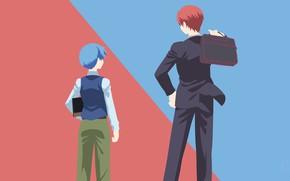 Картинка минимализм, аниме, арт, парни, Класс убийц, Ansatsu Kyoushitsu