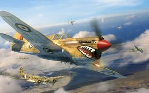 Картинка Curtiss P-40, Junkers Ju 88, Antonis (rOEN911) Karidis, симулятор военной авиации, Il2 Sturmovik - Desert …