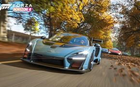 Обои McLaren, Microsoft, суперкары, Senna, E3 2018, Forza Horizon 4