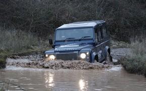 Картинка волна, прототип, Land Rover, Defender, 2013, All-terrain Electric Research Vehicle