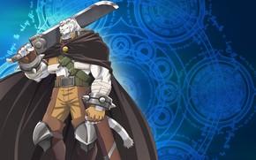 Картинка аниме, Тигр, арт, Меч, Grimoire Of Zero, Книга магии для начинающих с нуля, Zero kara …