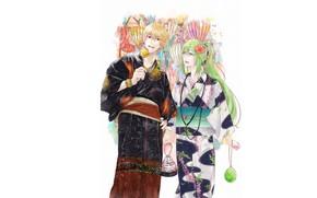 Картинка двое, юкаты, Гильгамеш, фестиваль, Fate / Grand Order, Судьба великая кампания