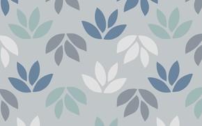 Картинка листья, серый, фон, узор, текстура