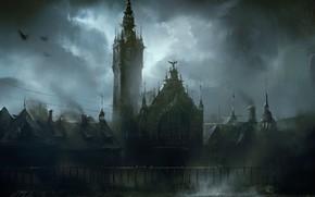 Картинка Ночь, Город, Станция, Здание, Gdansk, Darek Zabrocki, by Darek Zabrocki, Central Station, Gdansk Central Station