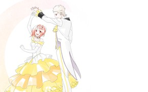 Картинка романтика, танец, арт, двое, Shingeki no Bahamut, Shingeki no Bahamut-Virgin Sou
