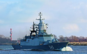 Картинка корабль, корвет, Балтика, Стойкий, сторожевой