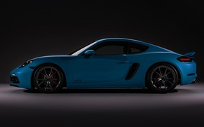 Картинка Авто, Porsche, Машина, Car, вид сбоку, Спорткар, Cayman S, Transport & Vehicles, Porsche 718 Cayman …