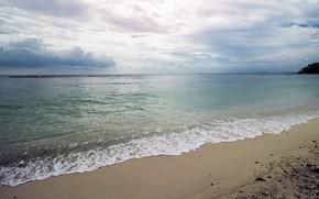 Картинка песок, море, волны, пляж, лето, summer, beach, sea, ocean, blue, seascape, sand, wave
