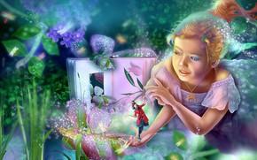 Картинка фэнтези, арт, девочка
