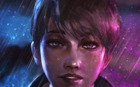 Картинка девушка, лицо, android, art, Kara, Detroit Become Human, AX400