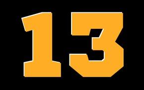 Картинка цифры, число, 13