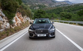Картинка Jaguar, вид спереди, универсал, на дороге, Jaguar XF, 2020, XF, XF Sportbrake