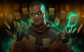 Картинка карты, магия, The Witcher 3: Wild Hunt, Ведьмак 3: Дикая Охота, чары, Стеклянный человек, Гюнтер …
