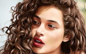 Картинка взгляд, девушка, лицо, волосы, Jinsung Lim