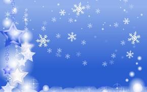 Картинка зима, снежинки, праздник, новый год, открытка
