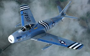 Картинка USAF, North American, F-86 Sabre, North American F-86А Sabre