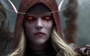 Картинка Blizzard Entertainment, Sylvanas Windrunner, World Of Warcraft, Сильвана Ветрокрылая, Битва за Азерот, Леди-банши