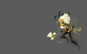 Обои арт, пчёлка, цветочек, детская, Beehivy, Kim Ettinoff