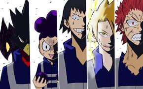 Картинка коллаж, парни, персонажи, My Hero Academia, Boku No Hero Academia, Моя Геройская Академия