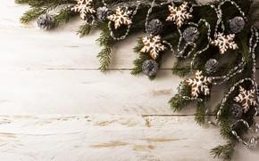 Картинка ветки, новый год, украшение, пряники, еловые