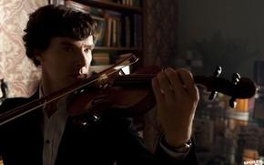 Картинка фон, скрипка, скрипач, Бенедикт Камбербэтч, Benedict Cumberbatch, Sherlock, Sherlock BBC, Sherlock Holmes, Sherlock (сериал)