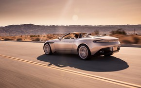 Картинка Aston Martin, скорость, вид сзади, 2018, Volante, DB11