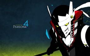 Картинка игра, аниме, маска, арт, Persona 4, персона