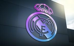 Картинка wallpaper, sport, logo, football, Real Madrid